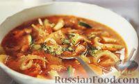 Тосканский овощной суп с фасолью