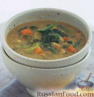 Фасолевый суп с овощами
