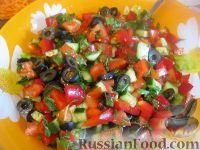 Овощной салат с брынзой (по-гречески)