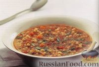 Суп из кускуса с помидорами