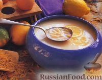 Лимонный суп с пастой орцо (ризони)
