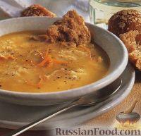 Тыквенный суп-пюре с куриным мясом и рисом