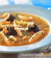 Куриный суп с черносливом и перловкой