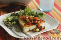 Рыба-меч с овощным соте