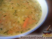 Гороховый суп с малосольными огурцами