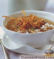 Рисовый суп с мясными фрикадельками