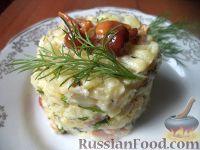 Грибной салат «Нежность»
