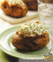Картофель на гриле со сметанным соусом