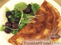 Омлет с газировкой и сыром
