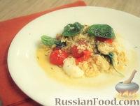 Омлет с моцареллой и помидорами черри