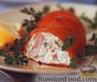 Сырный мусс с рыбой и креветками