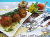 Тушеные помидоры, фаршированные мясом и рисом