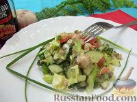 Салат со скумбрией и овощами