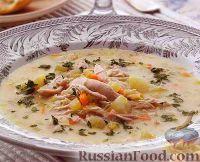Куриный суп со сливочной заправкой