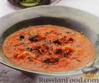 Томатный суп-пюре с фрикадельками