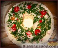 Вариант украшения оливье)))