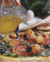 Овощной салат с жареным сыром фета