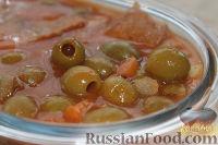 Оливковый красный суп
