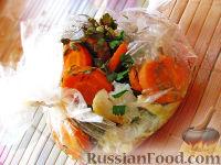 Пангасиус с овощами в рукаве