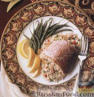 Рис, запеченный с рыбой