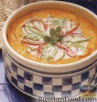 Картофель, запеченный с рыбой в нежном соусе