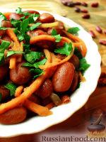 Салат из фасоли и моркови по-корейски