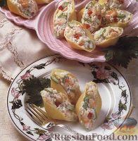 Ракушки, начиненные морепродуктами