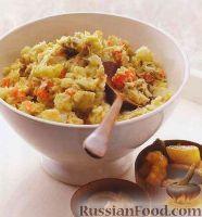 Пюре из картофеля, брюссельской капусты и моркови