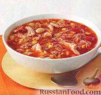 Быстрый суп с копченостями