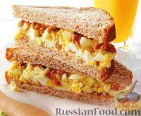 Бутерброды с яйцами на завтрак