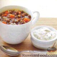 Быстрый суп с чечевицей