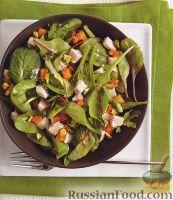 Салат с индюшиным мясом
