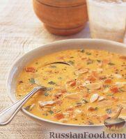 Суп-пюре из топинамбура и морских гребешков