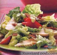 Куриный салат с экзотической заправкой