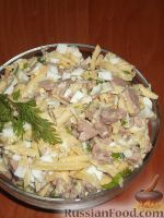 Салат из печени трески (минтая) с сыром