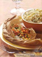 Камбала, запеченная с овощами