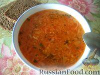 Суп картофельный с пшеном и квашеной капустой