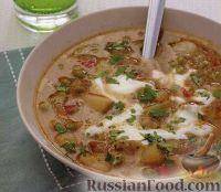Вегетарианский суп из зеленого горошка