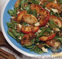 Салат с жареными яблоками