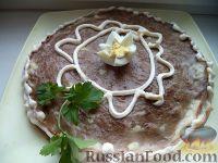 Торт печеночный из куриной печени (с молоком)