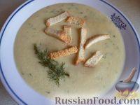 Суп из чечевицы с гренками