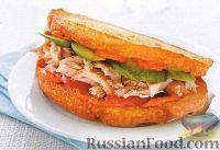 Бутерброды с копченым куриным мясом