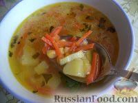 Суп картофельный с консервированной кукурузой