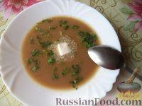 Суп-пюре из фасоли и чечевицы