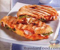 Сэндвичи с сыром и курицей (на пресс-гриле)