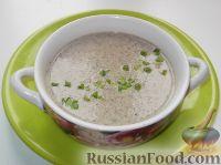 Суп-пюре грибной по-французски