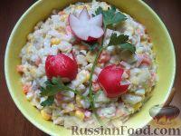 Салат из картофеля и кальмаров