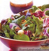 Салат с куриным филе и экзотической заправкой
