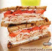 Сэндвичи с индейкой и клубникой