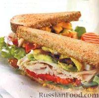 Сэндвич с индейкой и авокадо